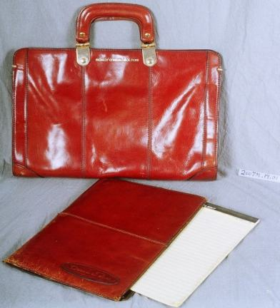 Bolton carried this briefcase with her to meetings held in support of women's rights, ca. 1968–1973